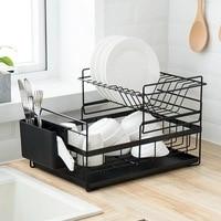 Creative home kitchen double dish dish drain rack sink tableware chopsticks spoon storage rack ZP3211710