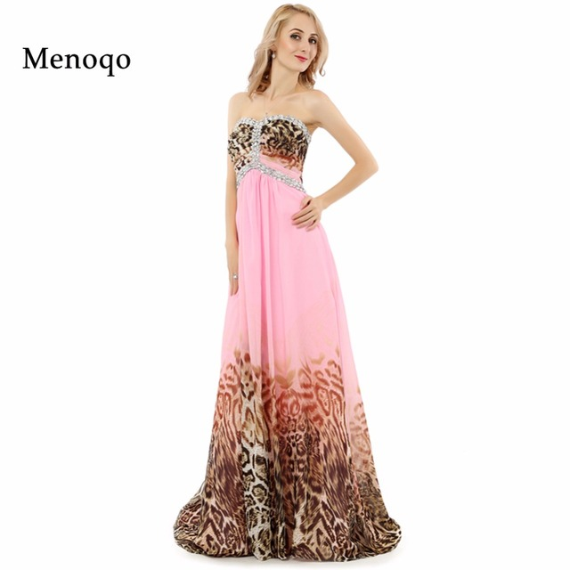 7156f9cbe2 US $83.75 33% OFF|Abendkleider Real Photo Formal Evening Gowns Long Prom  Dress 2018 A line Sweetheart Beaded Chiffon Leopard print Evening  Dresses-in ...
