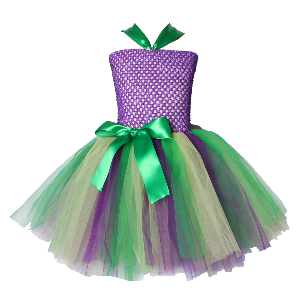 Ariel Inspired Girls Tutu Dress Tulle Princess Little Mermai Cosplay Tutu Dresses for Girls Kids Halloween Party Costumes 2-12Y ariel inspired girls tutu dress tulle princess little mermai cosplay tutu dresses for girls kids halloween party costumes 2 12y