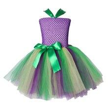 Ariel Inspired Girls Tutu Dress Tulle Princess Little Mermai Cosplay Tutu Dresses for Girls Kids Halloween Party Costumes 2-12Y