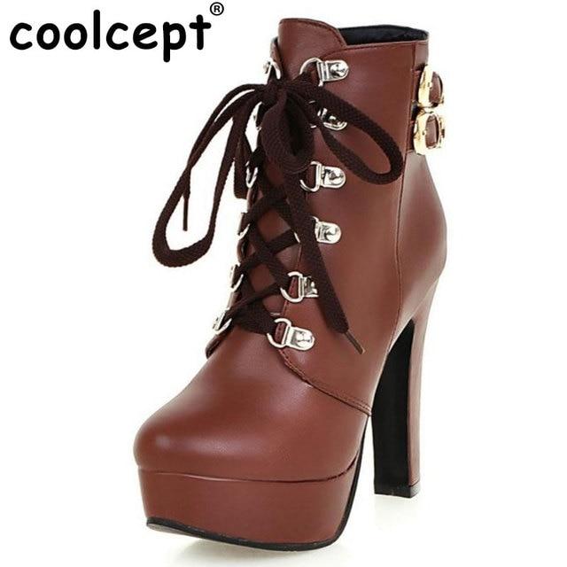 Automne Et Hiver Low Boots Fashion Épais à Talons Hauts Tête Ronde Martin Boots Bottes Femme (Couleur : Blanc, Taille : 42)