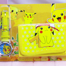 1pcs Hot sale! New Lot Pikachu sets cartoon kids part Set watch