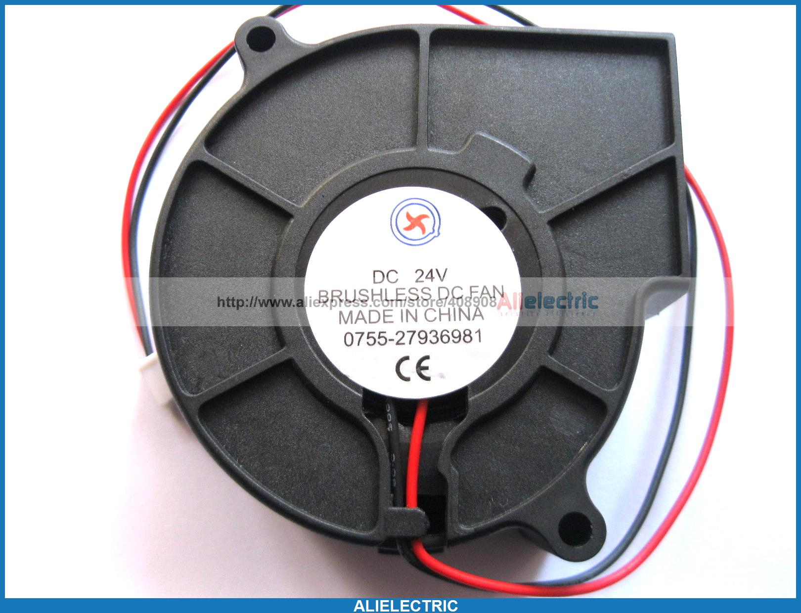 цена 1 Pcs Brushless DC Cooling Blower Fan 7530B 24V 75x30mm