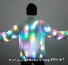 Новый Дизайн красочные подсветкой Одежда DJ платье мигающий свет Костюмы для бальных танцев костюм Одежда для танцев для Для мужчин LED Костюмы