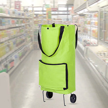 High Capacity Tugboat Cart Supermarket Household Portable Shopping Bag with Wheels Foldable Trolley