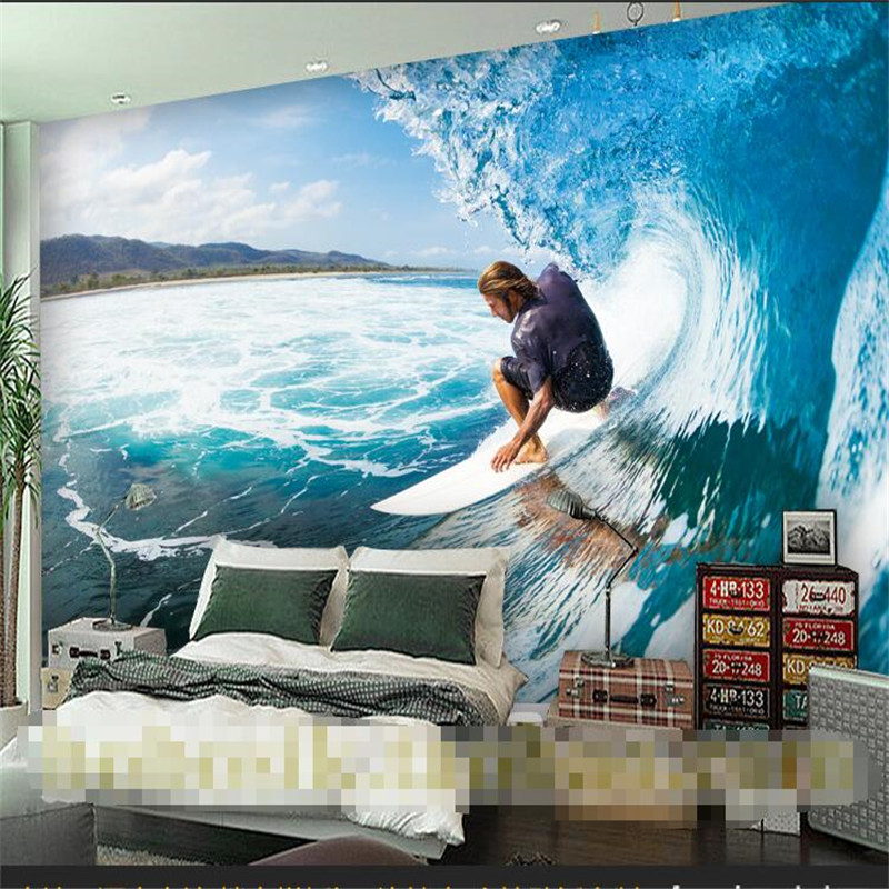 Beibehang Surf The Sea Extreme Sports Shop Fitting