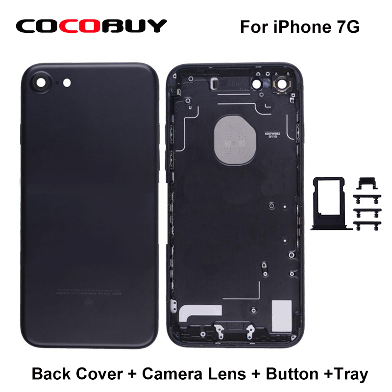 Free shipping 1 pcs back cover+camera lens+button+tray for iphone 7 7p new arrival wholesale 100 pcs 40 5mm snap on front lens cap cover for camera sigma lens free shipping
