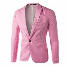 cdbe9a2bcf8ef4 Mannen pak blazer jacket Charm mannen Casual Slim Fit Een Knop Pak Blazer  trouwjurk Terno Masculino
