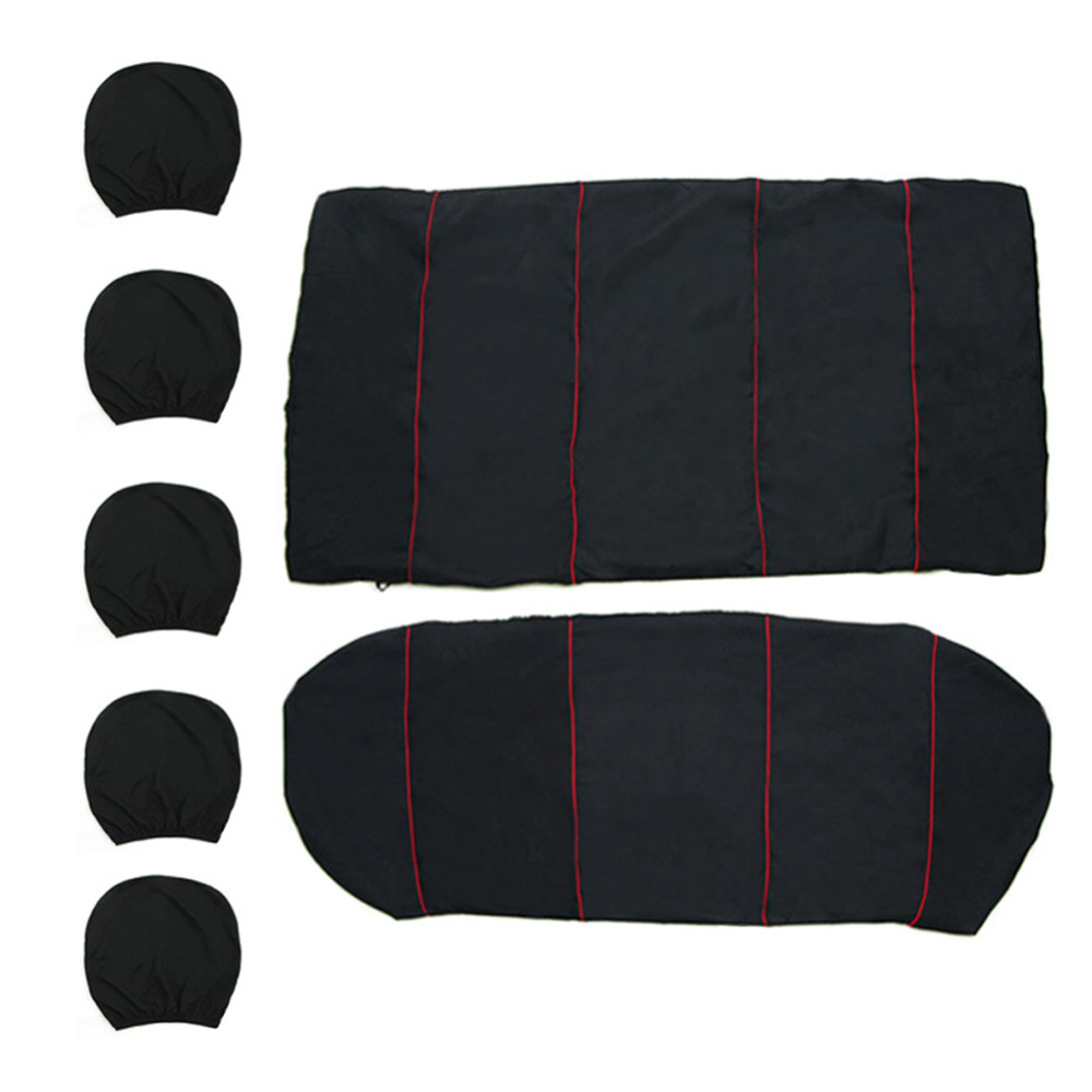 Chair Headrest Cover Lumbar Support Office Cushion 9pcs Universal Full Set Car Seat Auto Front Rear Back Protector Covers Automobiles Interior Accessories In From