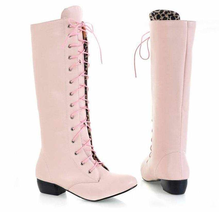 Cosplay Boots Black White Pink Martin Shoes Dancing Boots -7974