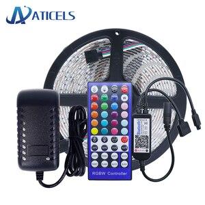 5M DC12V LED Strip 5050 RGB RGBW RGBWW With Bluetooth Controller And 12V Power supply EU/US Plug Flexibe LED Strip Kit