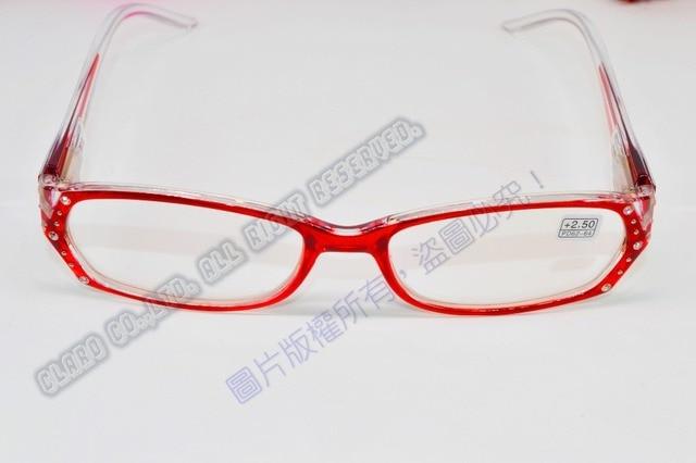 584119a909  !TWO PAIRS!  full rim Gradient rose red frame Diamond decoration men women  reading glasses+1.00+1.50+2.00 +2.50+3.00+3.5+4.0