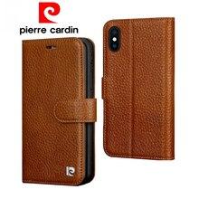 ピエールカルダンフリップ Iphone 用本革ケース × XR XS 最大高級財布カードスロット電話ケース iphone × XR XS 最大カバー