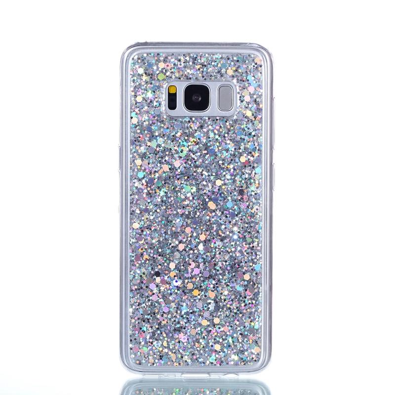 Glitter Bling Cover para Samsung galaxy s8 funda Cute Candy Colorful - Accesorios y repuestos para celulares - foto 3