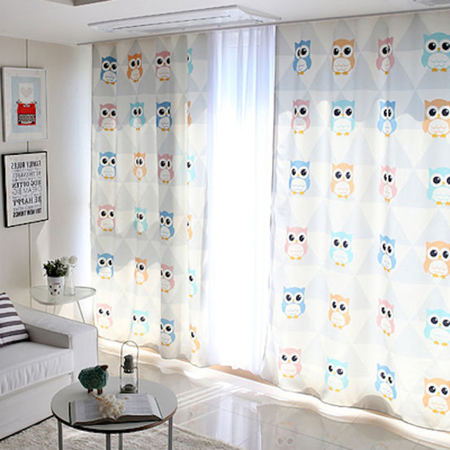 1x Grommet Drapery Drape Glass Curtain Nursery Kids Children Room Window  Dressing Covering 145 X 180cm