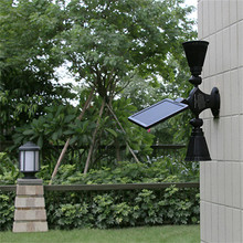 Solar Night Lights Waterproof Path Light Dual Head Upgraded Double Spotlights 12 LED For Outdoor Garden Yard Pathway