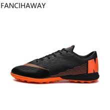 FANCIHAWAY size7-12 Botas de fútbol Superfly Futsal Hard Wear TF Fútbol Lleats Men Sport Sneakers New Indoor Soccer Shoes XII
