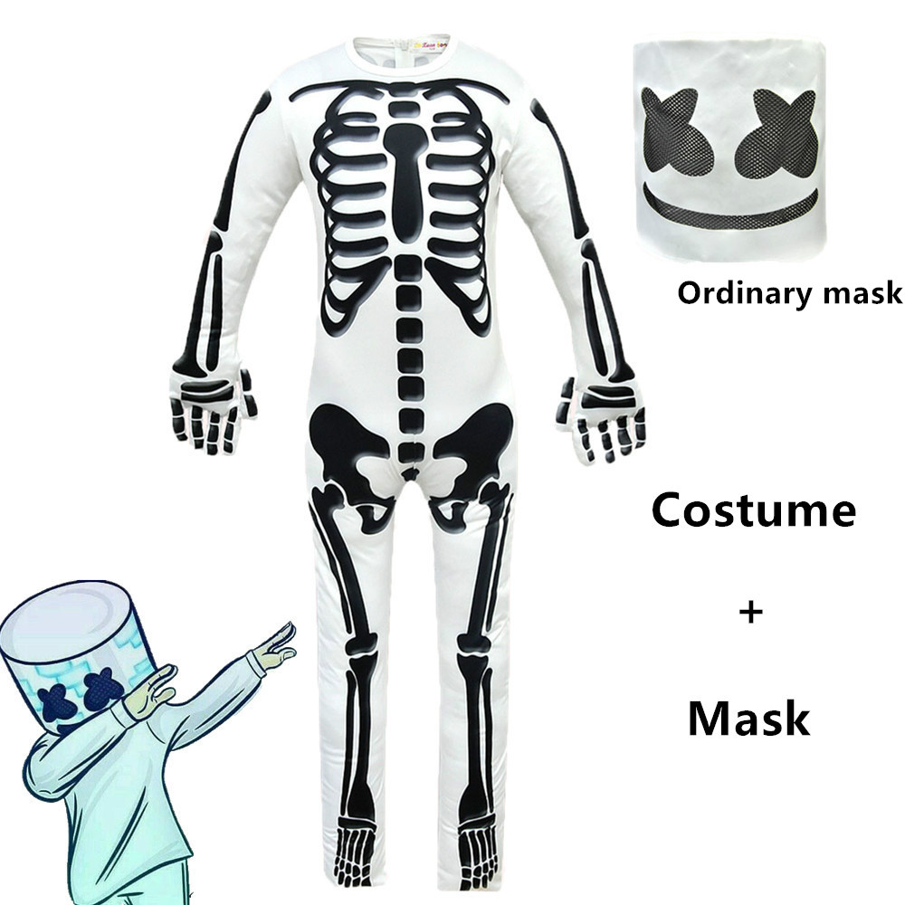 marshmello dj mask cosplay costume  Baldi's youth boys girls Halloween Prop Headdress school costume for children 14y clothing