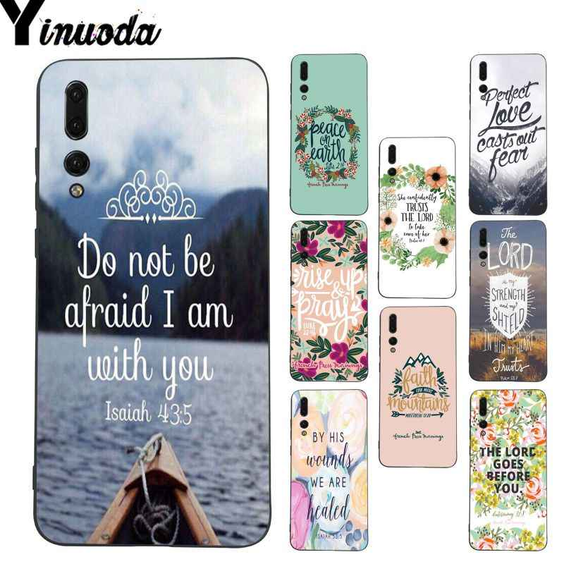 Yinuoda Bible verse Philippians Jesus Christ Phone Case for Huawei P20 Lite P10 Plus Mate9 10 Mate10 Lite P20 Pro Honor10 View10