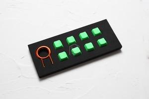 Image 5 - Zestaw gumowych klawiszy do gier taihao gumowany podwójny zestaw klawiszy Cherry MX profil oem połysk zestaw 8 magenta jasnoniebieski