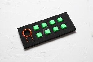Image 5 - taihao Rubber Gaming Keycap Set Rubberized Doubleshot Keycaps Cherry MX OEM Profile shine through Set of 8 magenta light blue