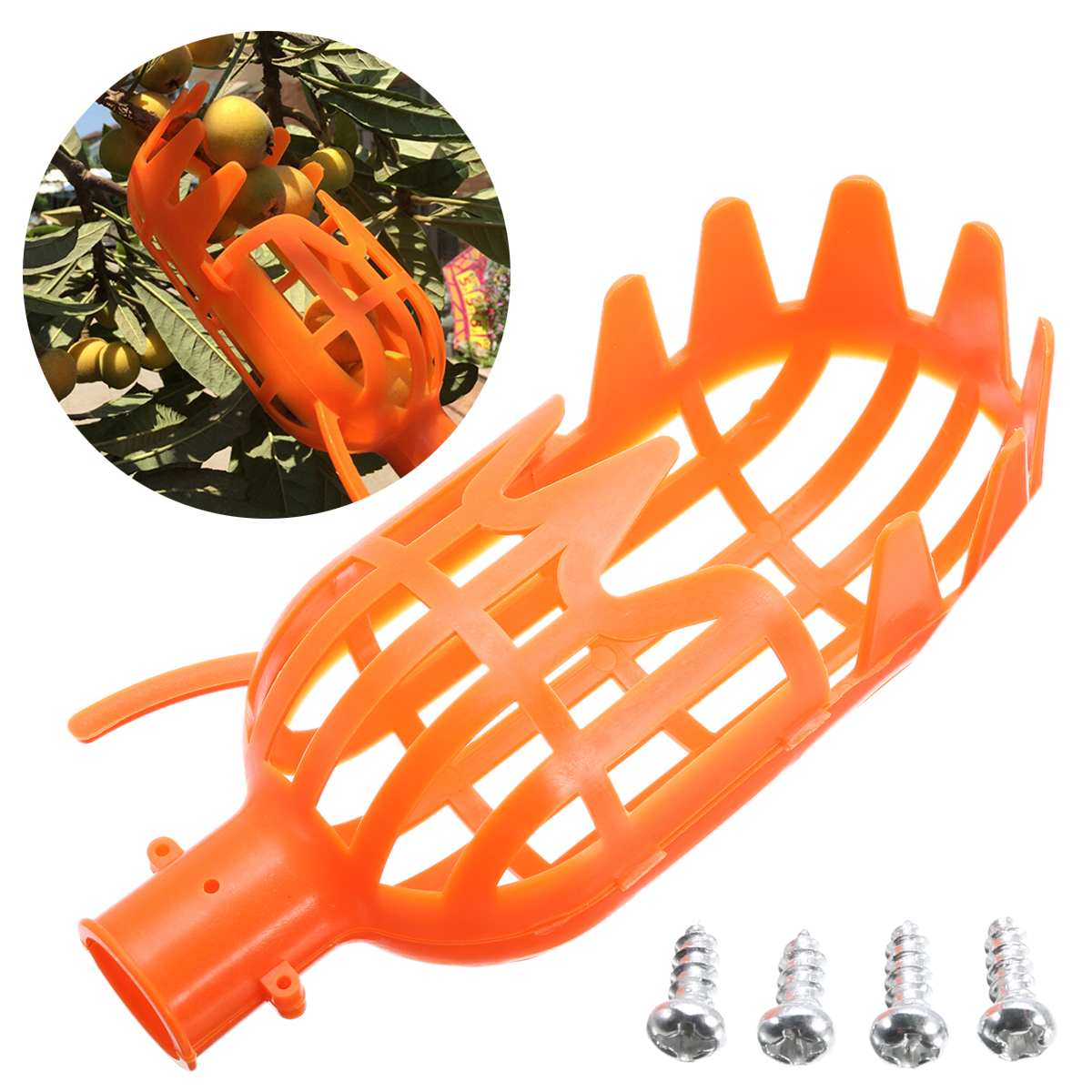 1Pc Plastic Fruit Picker Without Pole Fruit Catcher Collector For Gardening Picking Tool