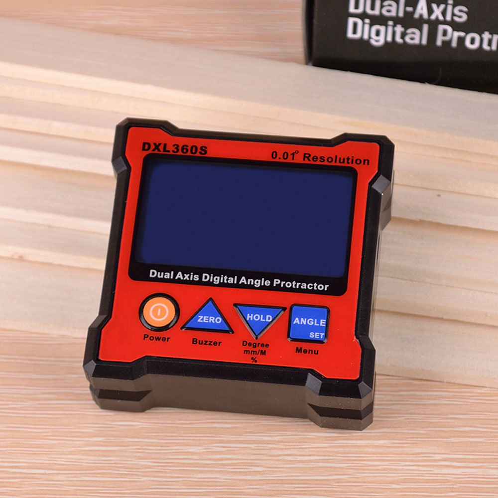 Dual axis Digital Display Level Gauge DXL360S Dual Axis Digital Angle Protractor with 5 Side Magnetic