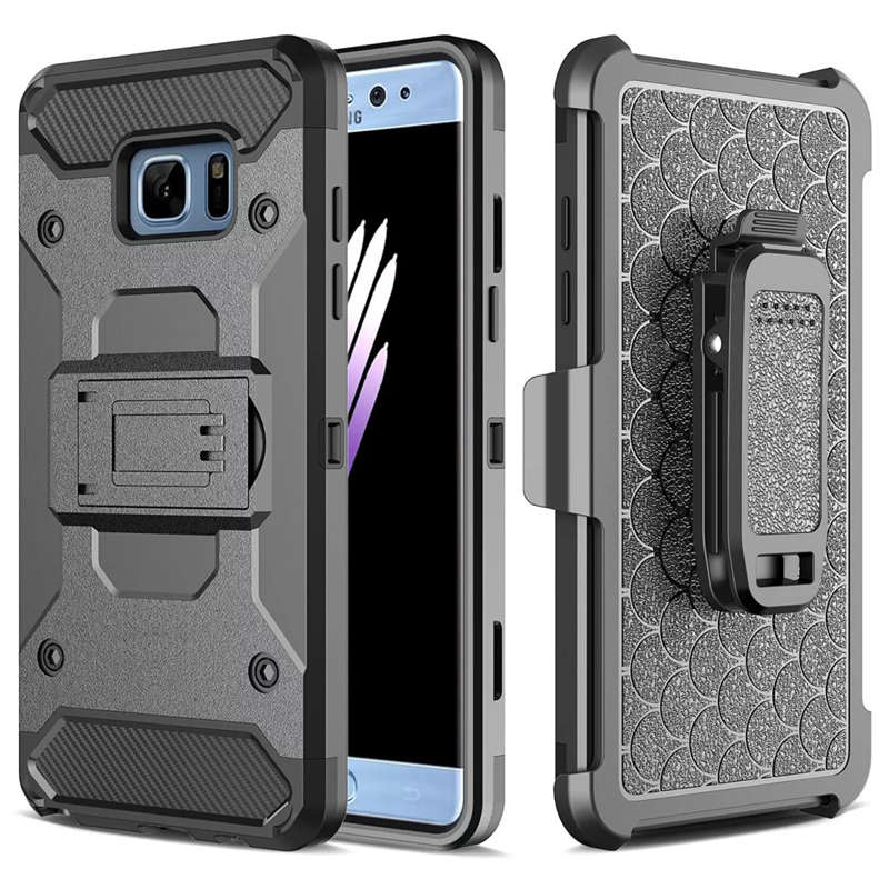 LANCASE Για Samsung Galaxy S9 Edge Case TPU Belt Clip Stand Armor Cover For Samsung S7 edge S8 Plus Dual Layer Shockproof Case