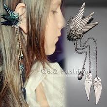 Fairy Tail Elf Pixie Angel Wing Long Chain Tassel Ear Cuffs
