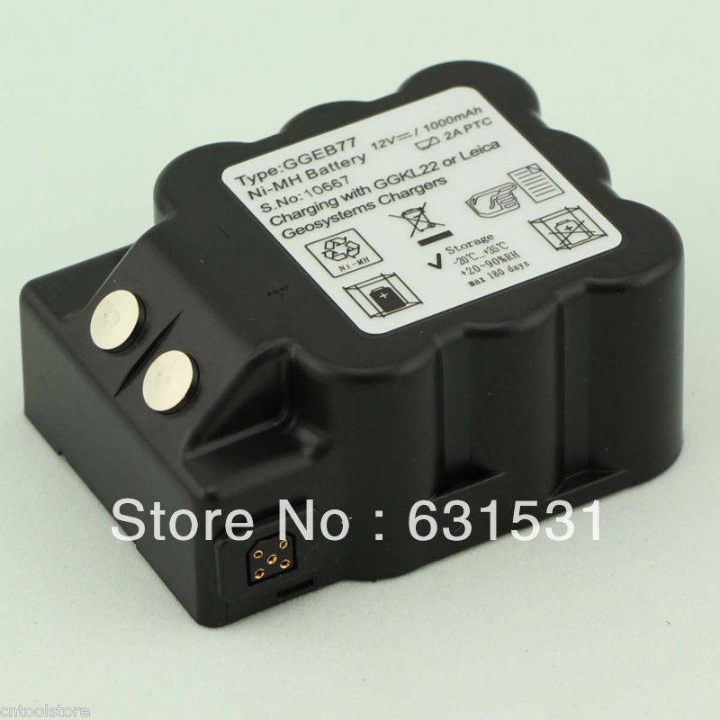 GEB77 Type Compatible NiMH Battery for Total Station 12V 1000mAh gg22 charger for 5 pin nimh battey geb70 geb77 geb187 etc