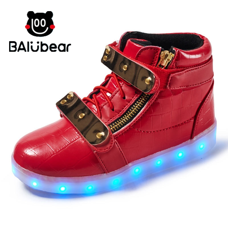21 Kinds Children Shoes Boy & Girls Casual With LED Lamp Fashion Sport Shoes For Chid Kids Flash Sneakers 2017NEW BAIYOUXIONG kelme 2016 new children sport running shoes football boots synthetic leather broken nail kids skid wearable shoes breathable 49