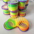 Magic Plastic Slinky Rainbow Spring Colorful New Children Funny Classic Toy Color Randomly HOT Selling