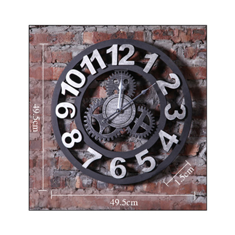 Industrial Gear Clock Wind Wall Mural Wall Decoration Wall Metal Art