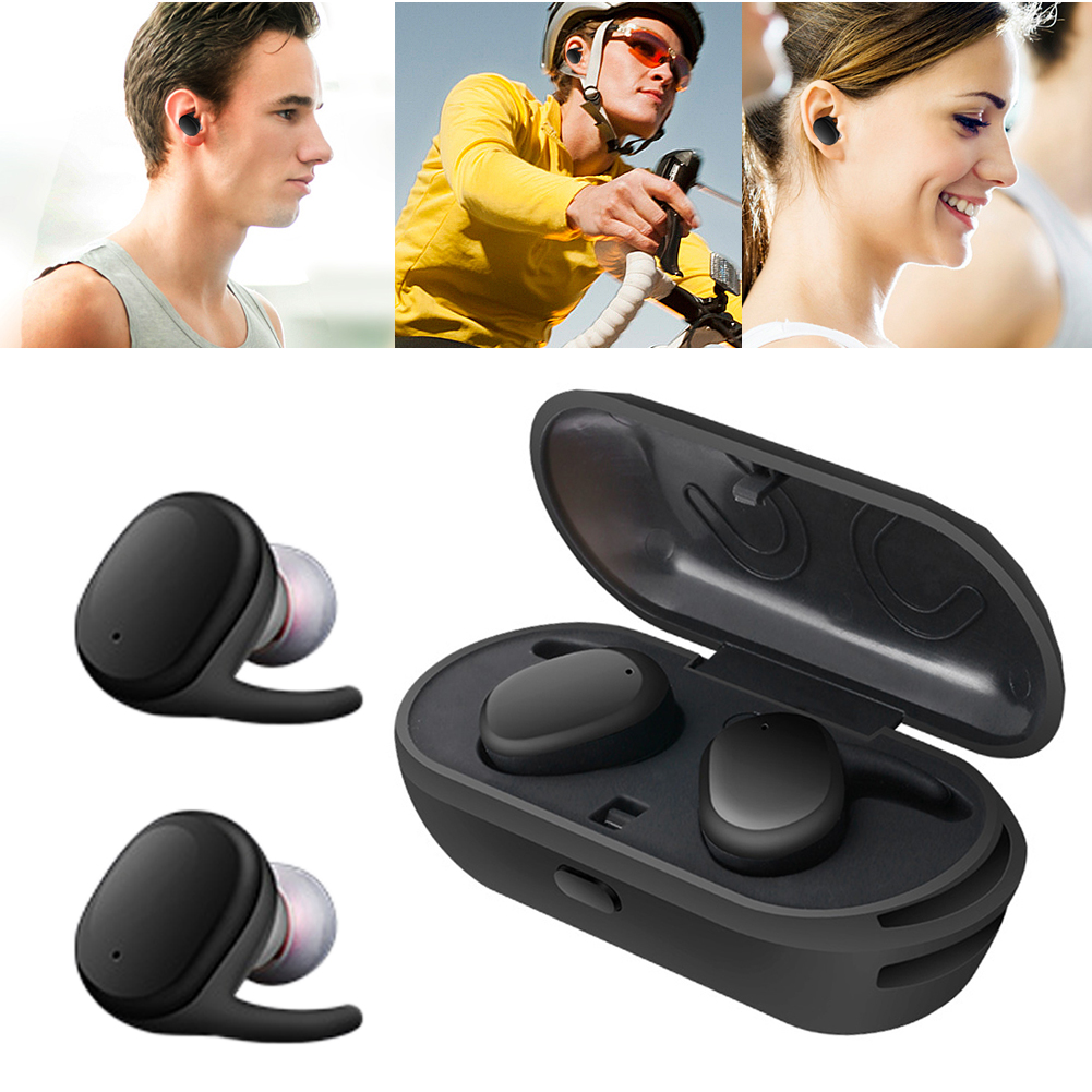 Mini Wireless Bluetooth Earphone Stereo Waterproof Sport Bluetooth Earphones Earbuds Headset Auricular with Charger Storage Box