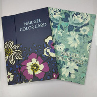 Pro Women Beauty Nail Art Salon Display Cards Paint 180 Color Fingernail Gel Polish Box Show