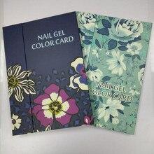 Professional 180 Colors Nail Polish Color Display Card Book Salon Nail Art Chart Acrylic Gel Polish