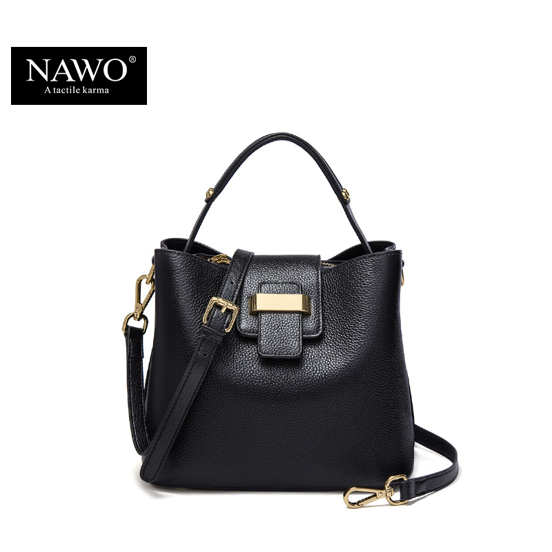 82be0de2a6 NAWO 2017 Designer Women Leather Handbags Bucket Shoulder Bags Ladies  Crossbody Bags Small Cow Real Genuine Leather Women Bags-in Top-Handle Bags  from ...