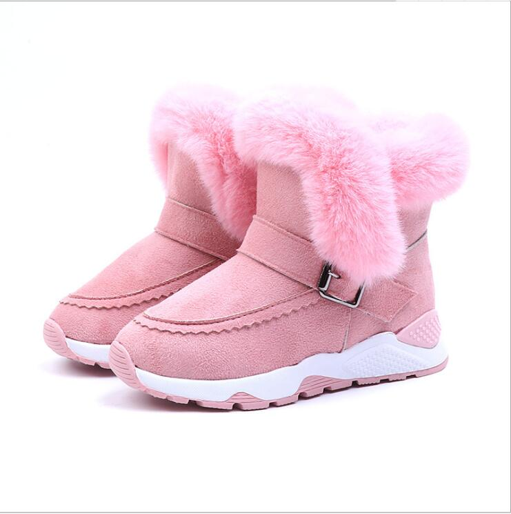 Kids Baby Infant Boys Girls Child Fur Flock Winter Bootie Warm Snow Shoes Boots Kalosze Dla Dzieci Kids Boots Shoes