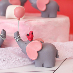 Image 4 - Cute Balloon Bird Elephant Animal Party Cake Topper Baby Shower Boy Girl Birthday Party Decorations Kids Happy Birthday Gifts