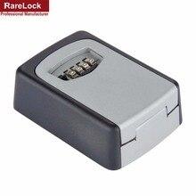 Rarelock Key Storage Organizer Boxes 4 Digit Wall Mounted Password Small Metal Secret Safe Game Room Escape Props Code Lock