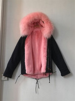 High Quality Real Photos Fashion Mr Mrs Fur Jacket Light Pink Faux Fur Lined Coats With