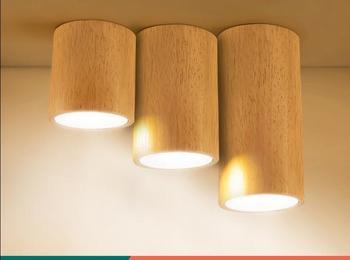 Lampa sufitowa do salonu drewna nowoczesne lampy minimalistyczny