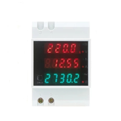 купить d52-2047 AC80-300V 200-450v 100A 200a Multi-functional Digital Din Rail Current Voltage Power Factor Meter Ammeter Voltmeter по цене 654.31 рублей