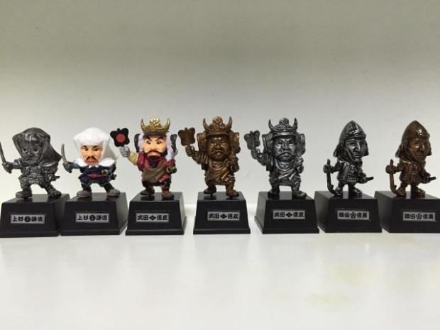 Japan Warring States Warriors Q version of the war era of Japanese samurai toy model Decoration Collection 7pcs/set