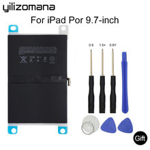 YILIZOMANA For ipad pro 9.7 inches Suitable battery 7306 mAh  inches Suitable A1664 Replacement Built-in Battery + Repair Tools hcigar akso plus pod kit 850 mah built in battery
