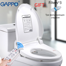 GAPPO Smart Toilet Seats Remote Control Intelligent Bidet Sprayer Led Light Cover Elongate Heating Lid