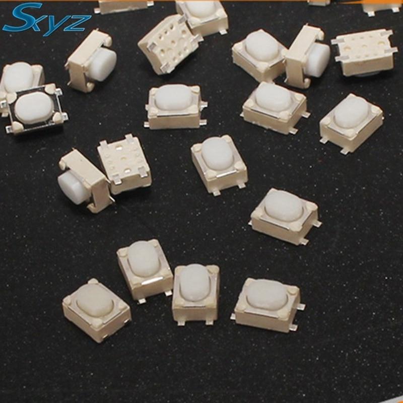 цена на 50Pcs/lot 4 PIN microswitch switches push button 3x4x2.5 mini tact switch 3*4*2.5 4 pin tactile switch Button