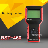 BST-460 Battery Tester Car Battery Detector Portable 3-inch LCD Display Car Battery Life Testing Tool Battery System Tester 12V