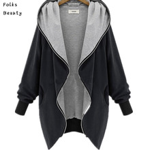 5XL Plus Size Hooded Women Coats and Jackets 2015 Autumn Winter Europe and America Fashion Basic Jacket abrigos y chaquetas