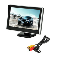 5 TFT LCD Car Monitor Parking Assistance Car rear view camera with mirror monitor Backup Reverse Auto TV Monitor Car DVD Screen